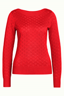 Audrey top heart ajour red