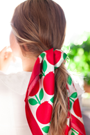 Silk scarf lingonberry