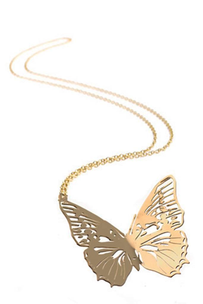 Piisua halsband lång kedja (fjäril)