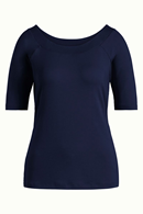 Sarah Top Viscose Lycra dark navy