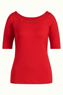 Sarah Top Viscose Lycra chili red