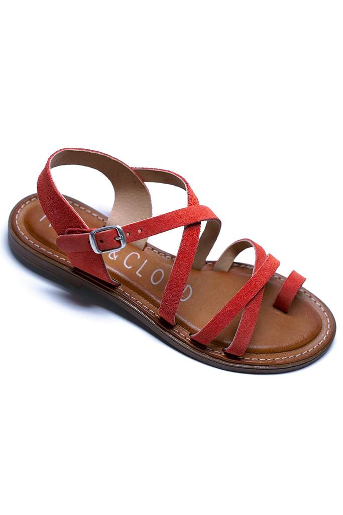 Kalio sandal korallröd