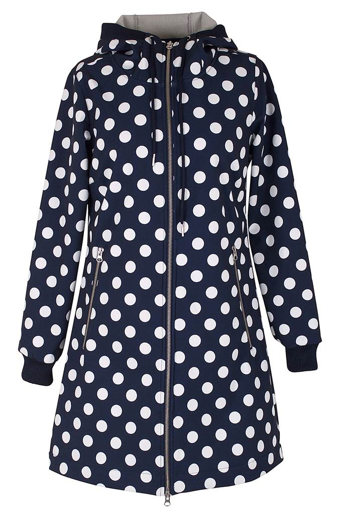 Jane Softshell Navy/Offwhite DOTS