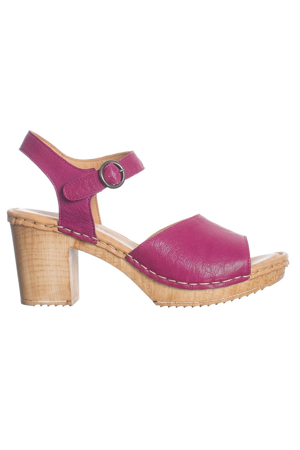 Amelia sko öppen tå magenta