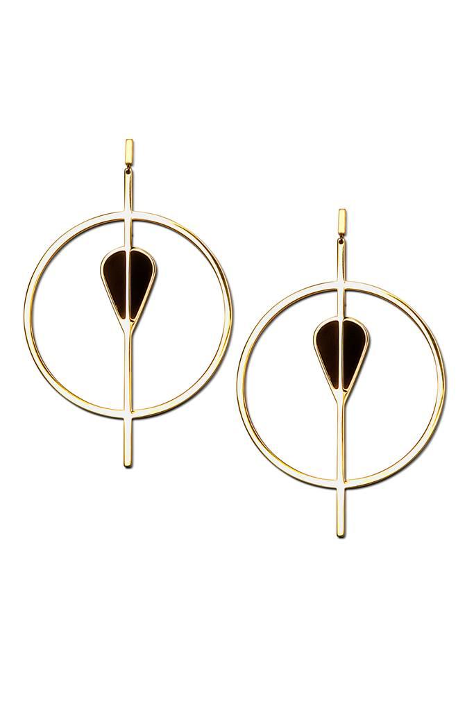 Vitae golden statement earrings
