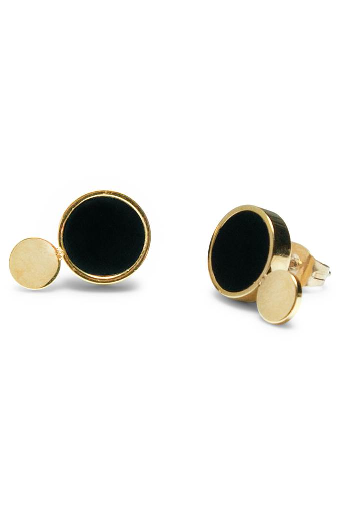 Luna Golden Eclipse Petite Earrings