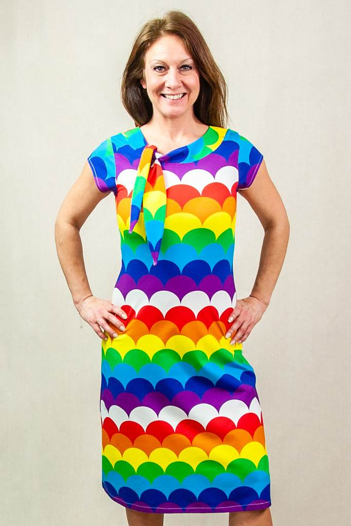 Sanna sailor dress rainbow Doris