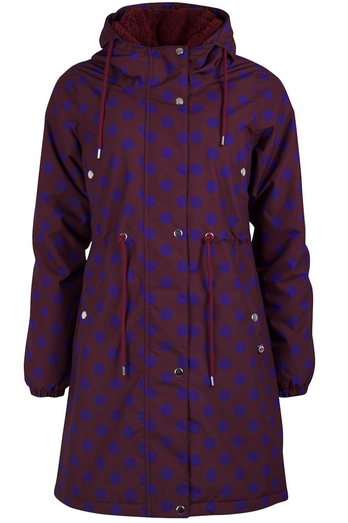 Flora winter parka dark box/purple blue