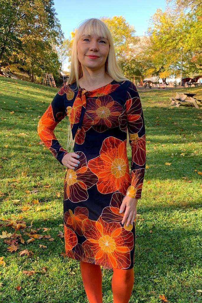 Sanna sailor klänning ls silvana orange