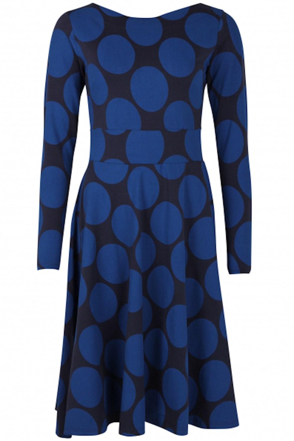 Organic Sigrid klänning navy/indigo