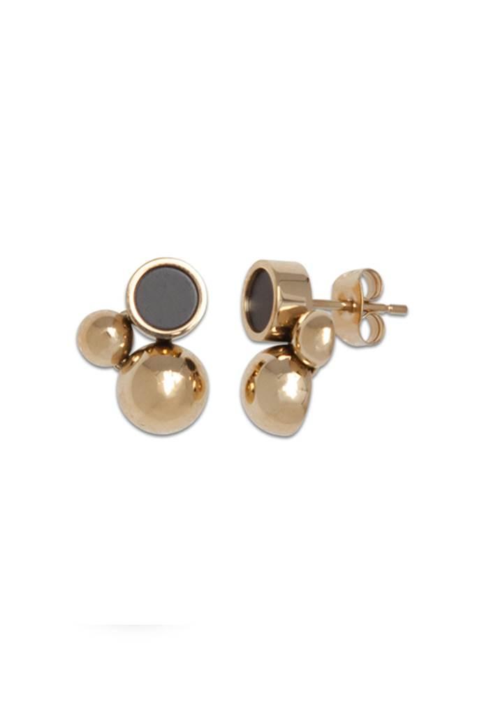 Solar golden earrings