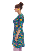 Doris klänning Plommon