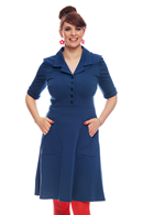 Monica klänning Indigo