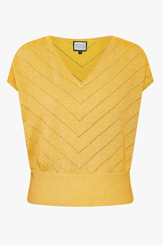 Sunday Girl Knit Top yellow