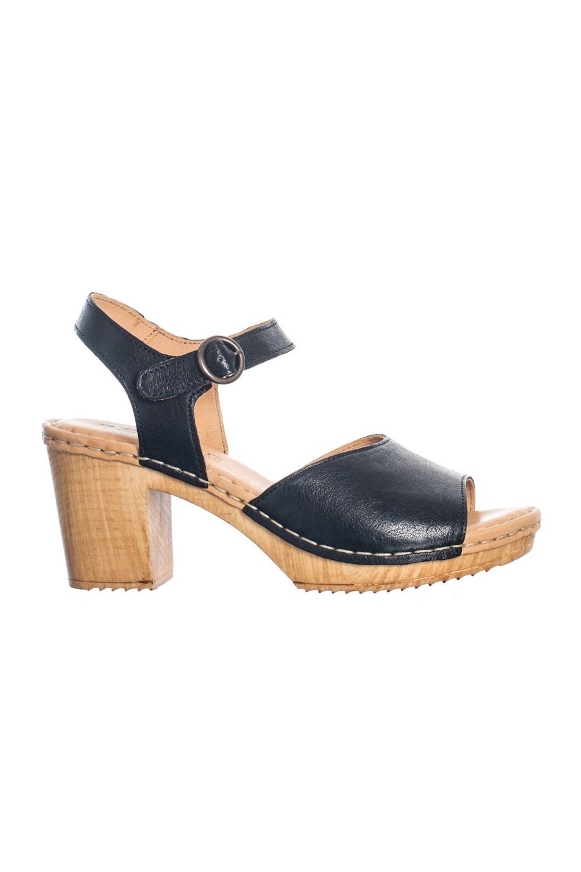 Amelia sko öppen tå Black