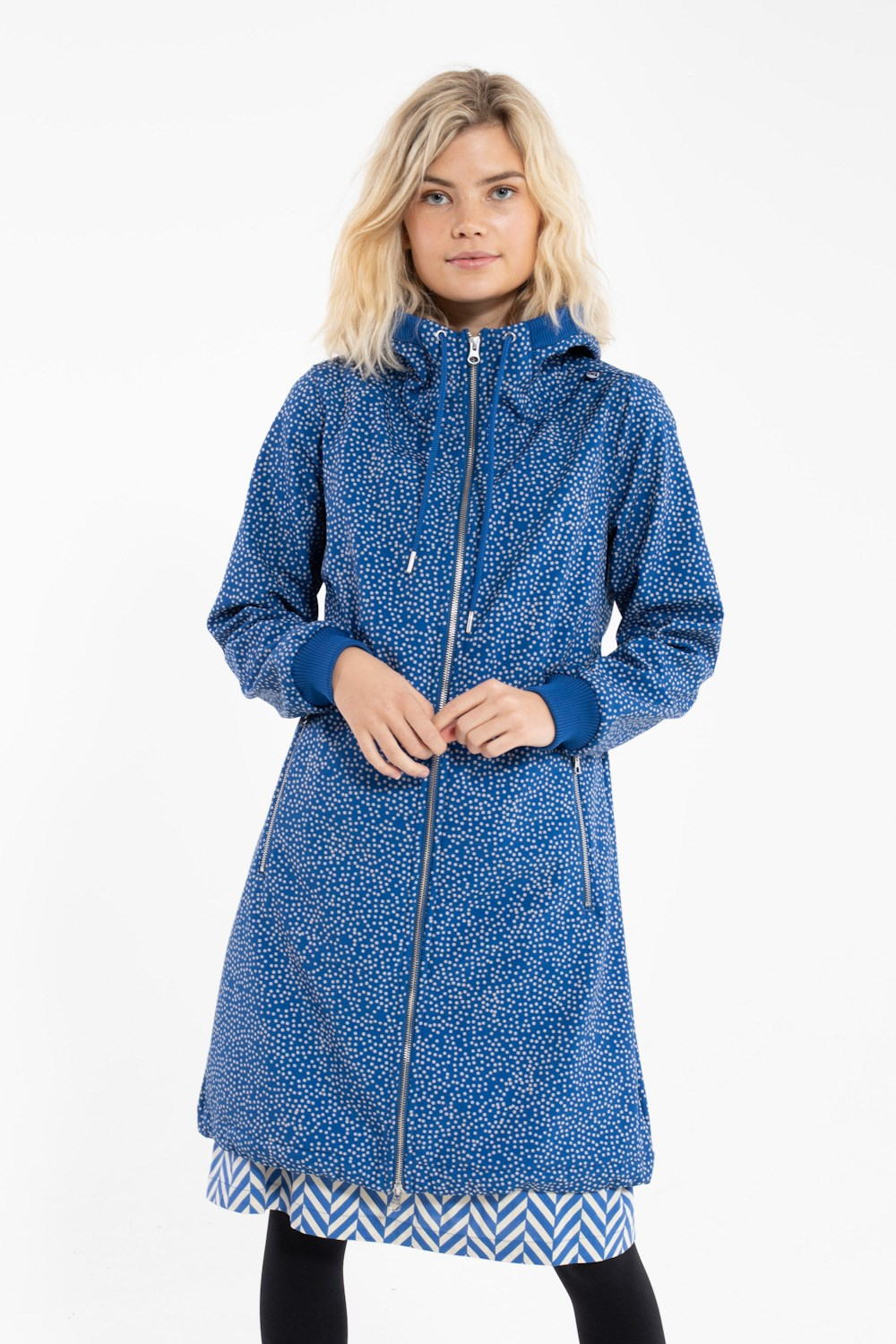 Jane Softshell Indigo/Beige DOTS