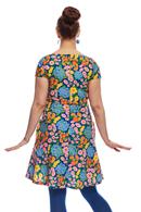 Siv klänning Blomklasar