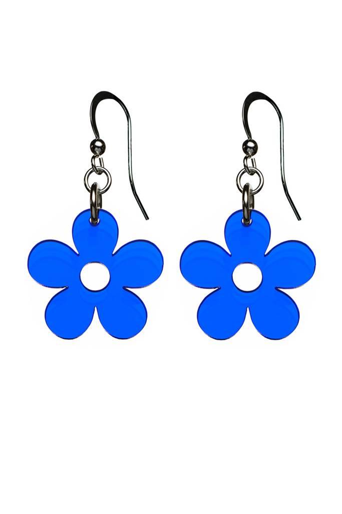 Örhängen Blomma Klintblå