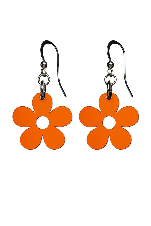 Örhängen Blomma Orange