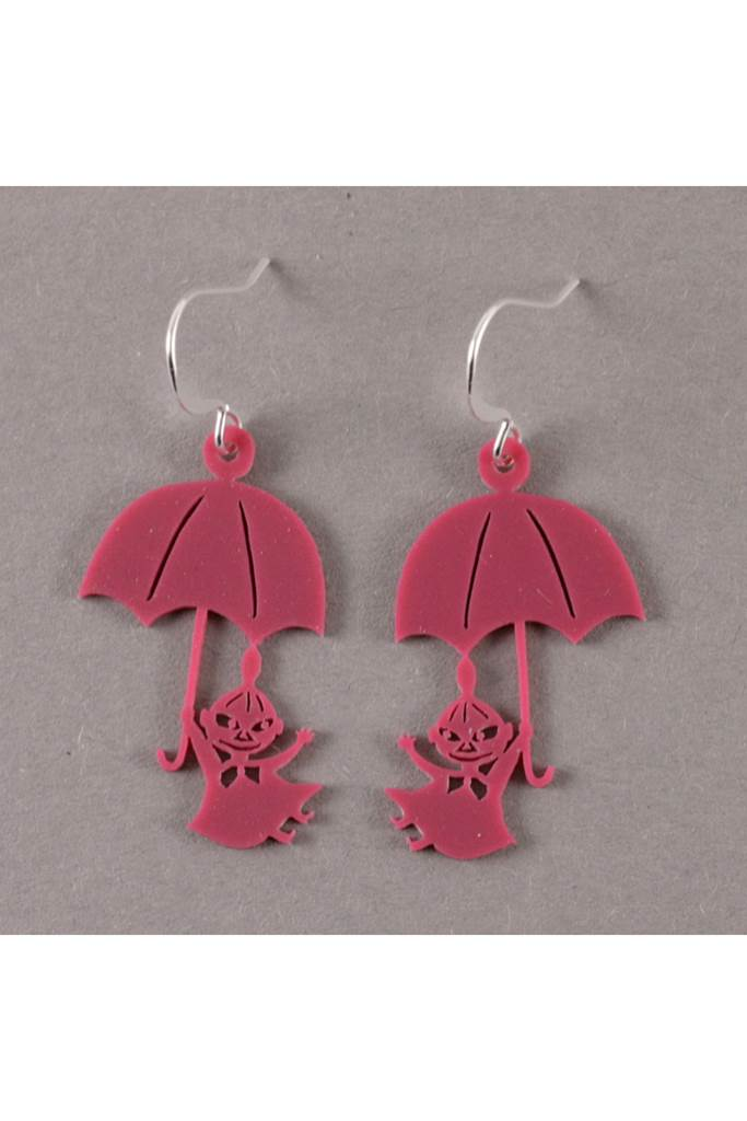 Lilla My och paraply örhängen Hallon