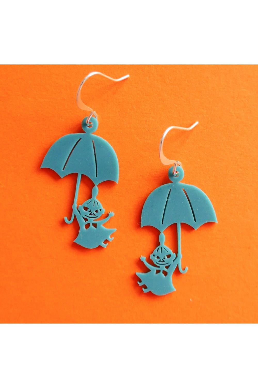 Lilla My och paraply örhängen Petrol