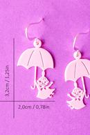 Lilla My och paraply örhängen Rosa