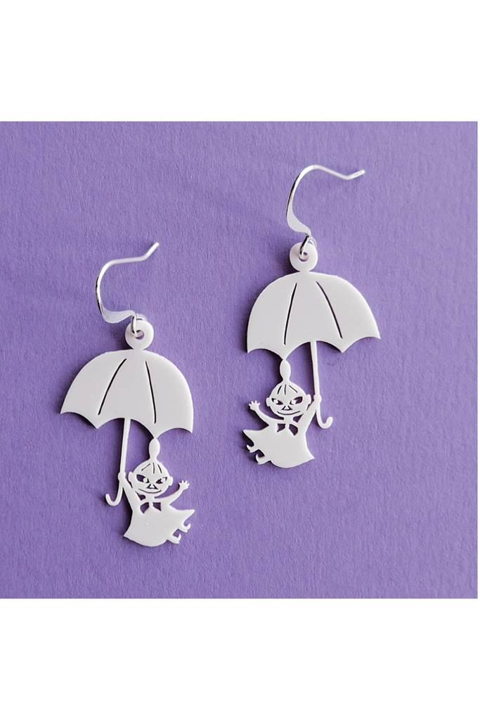 Lilla My och paraply örhängen Vit