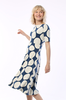 ORGANIC - Charlotte klänning navy/chalk