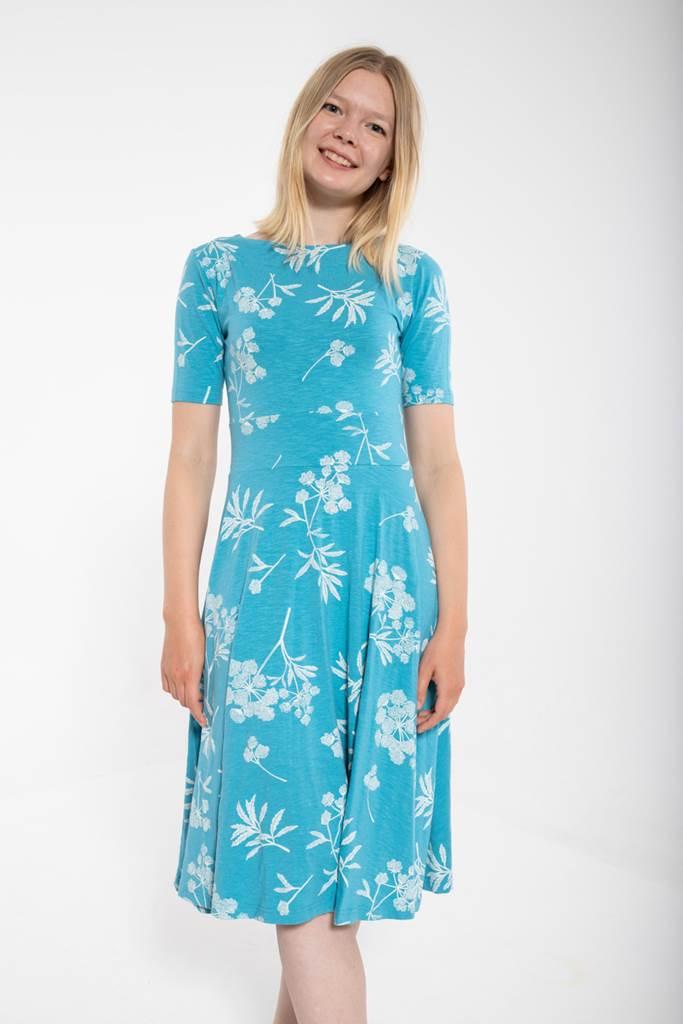 ORGANIC - Charlotte klänning rainblue/chalk