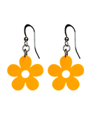 Örhängen Blomma Orange/Gul