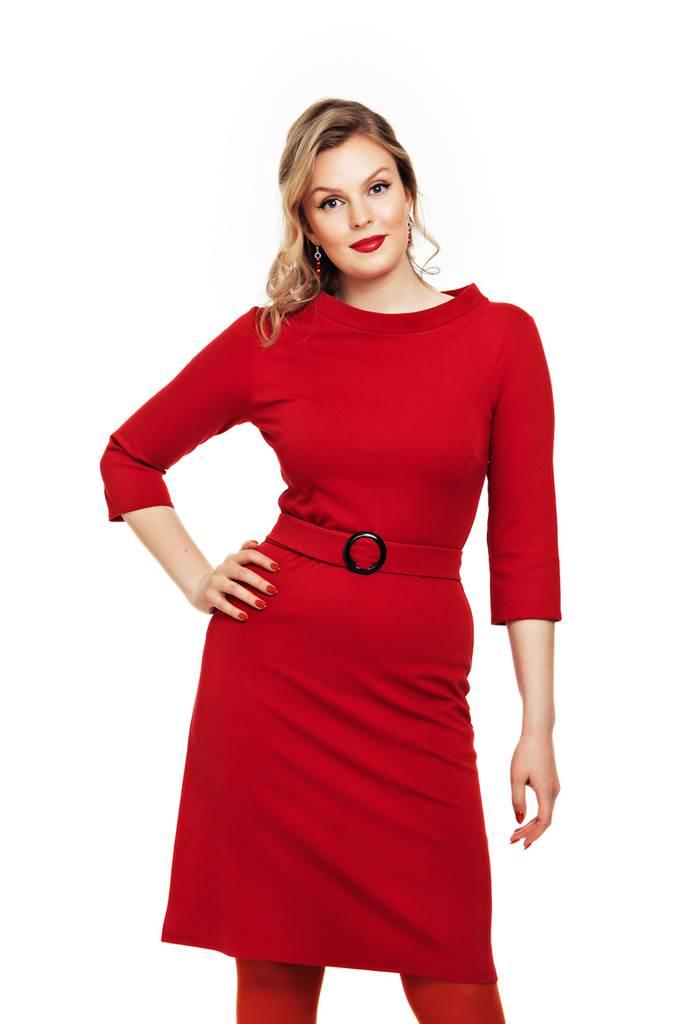 Agneta klänning Röd