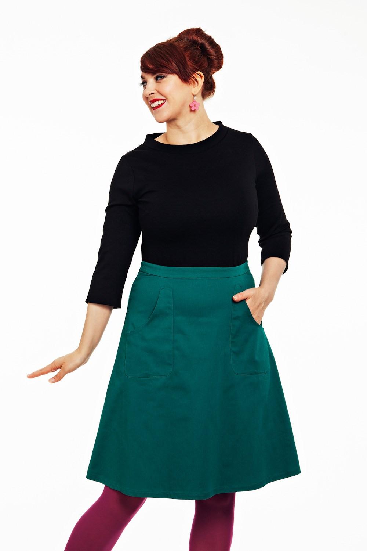 Sonja kjol Havsgrön