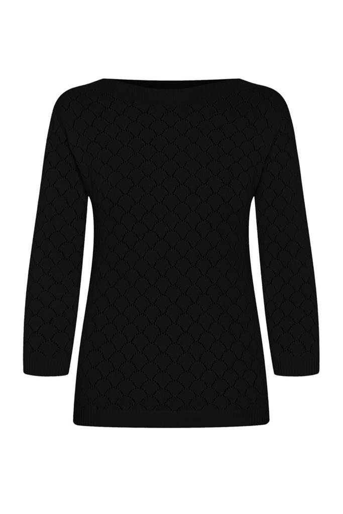 Staying Up Knit topp Black