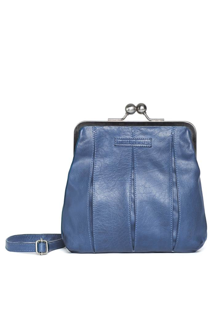 Luxembourg Bag - Buff Washed Denim blue