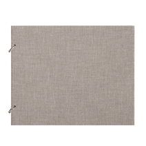 "Photo album ""Columbus"" Light grey Medium Refillable cloth covered photo album"
