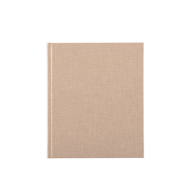 Notebook hardcover, Sandbrown