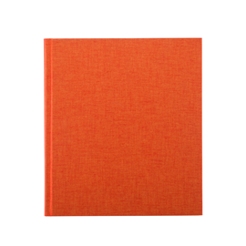 Notizbuch gebunden, Orange