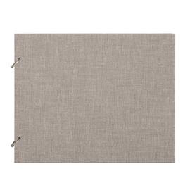 """Photo album """"Columbus"""" Light grey Medium Refillable cloth covered photo album"""
