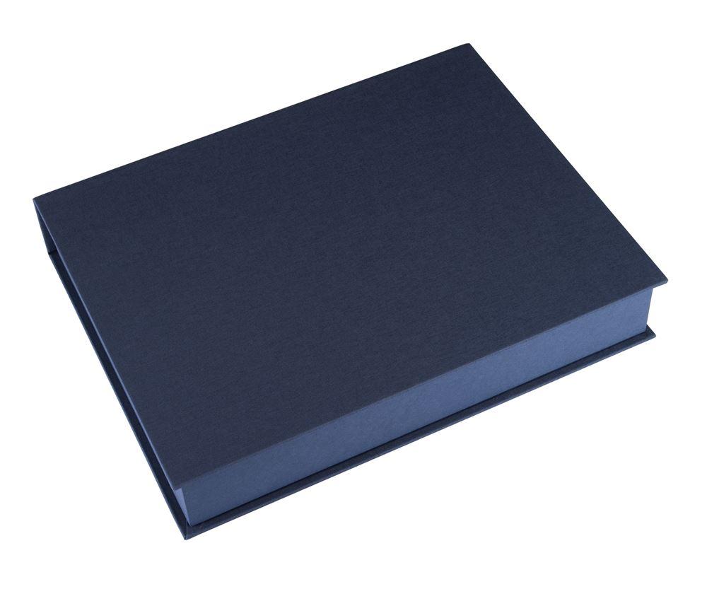 Box A4 smoke blue