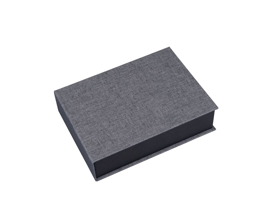 Vävklädd box, Svart/vit