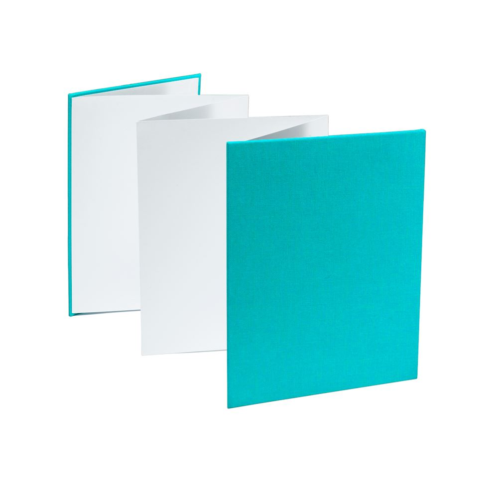 Album de photos accordéon, turquoise