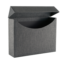 Filing Box, Black/white