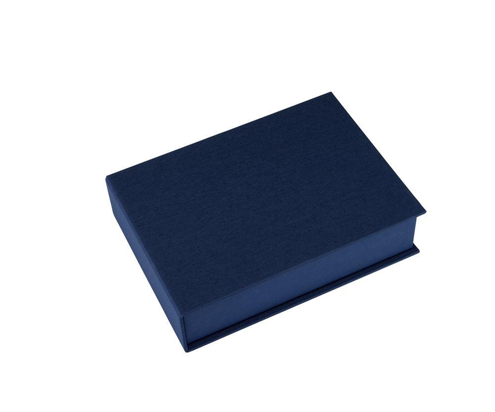 Vävklädd box, Mörkblå