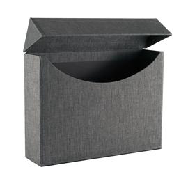 Vävklädd Arkivbox, Svart/vit
