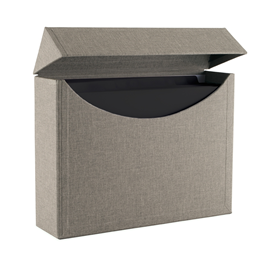 Filing Box, Pebble Grey