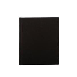 Notebook Hardcover, Black 170x200 mm