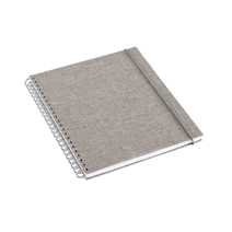 Notizbuch mit Ringbindung, Light grey