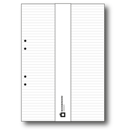 Sheets for A4 binder Lined