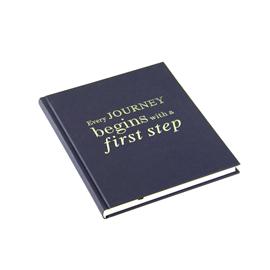 Inbunden anteckningsbok, Mörkblå