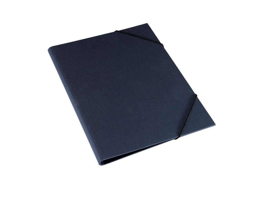 Vävmapp med snodd, Mörkblå